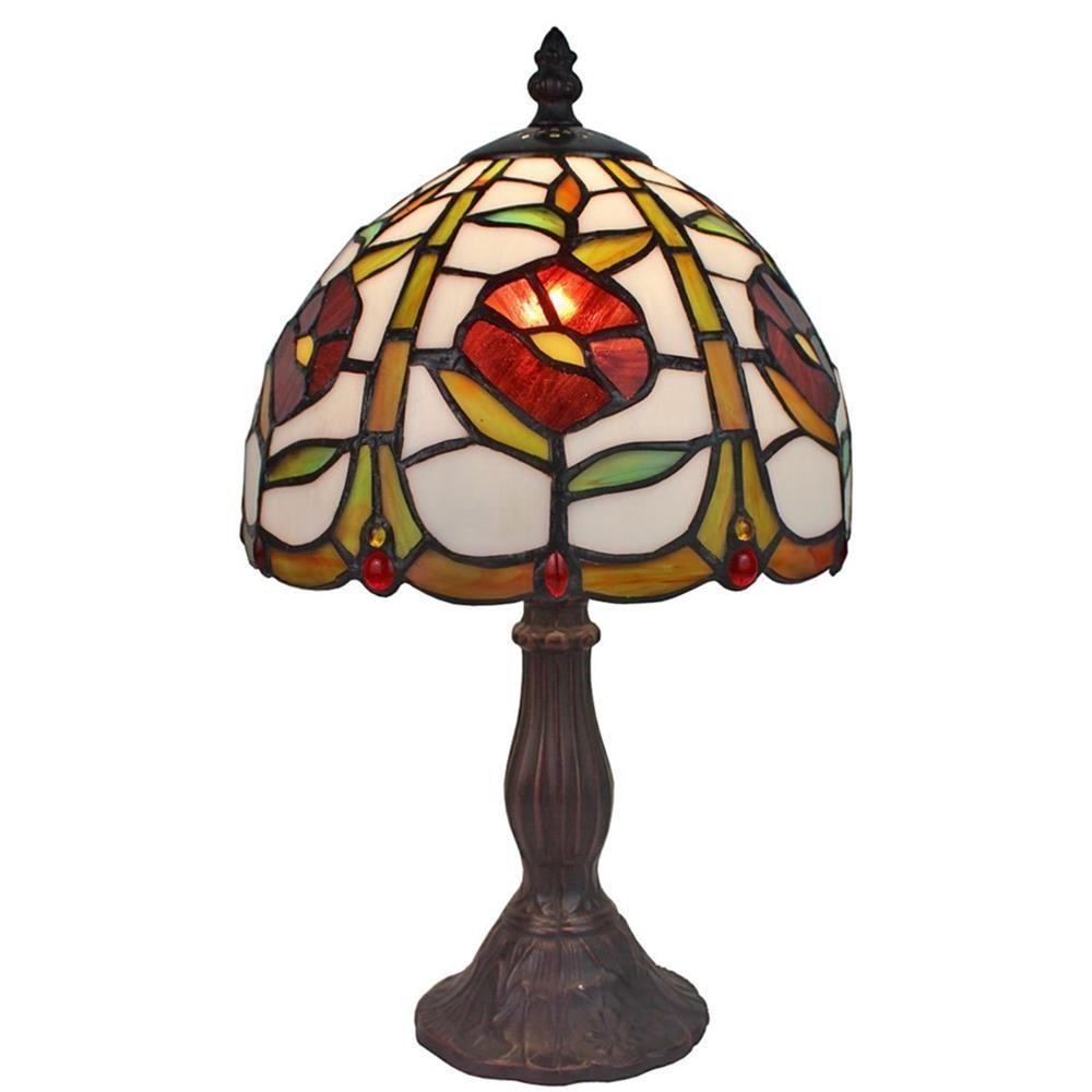 Amora Lighting 14 5 In Tiffany Style Floral Mini Table