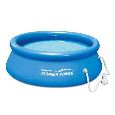 Ring Quick Set 8 ft. x 30 in. D Inflatable Round Above Ground Pool with RP350 Filter Pump System
