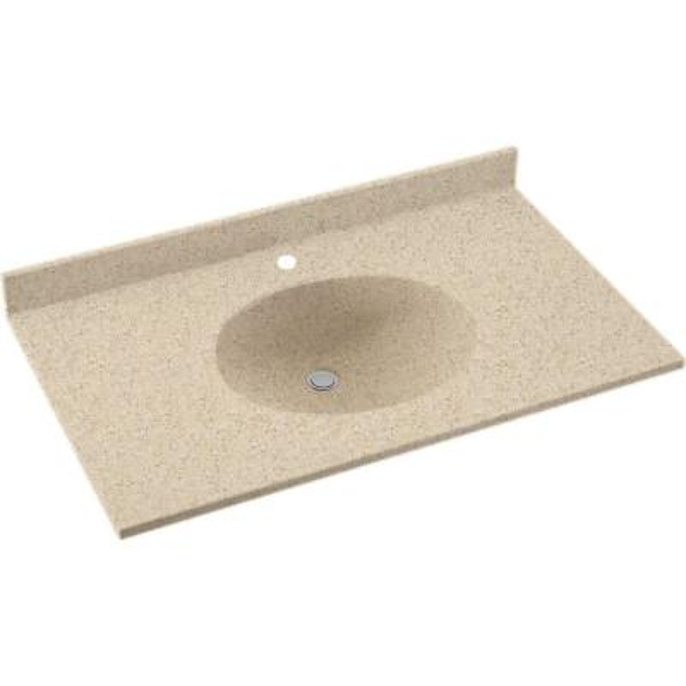 Ellipse 55 in. W x 22 in. D Solid Surface Vanity Top in Bermuda Sand with Bermuda Sand Basin