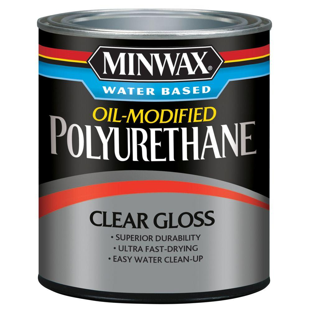 1 qt. Clear Gloss Water Based Oil-Modified Polyurethane