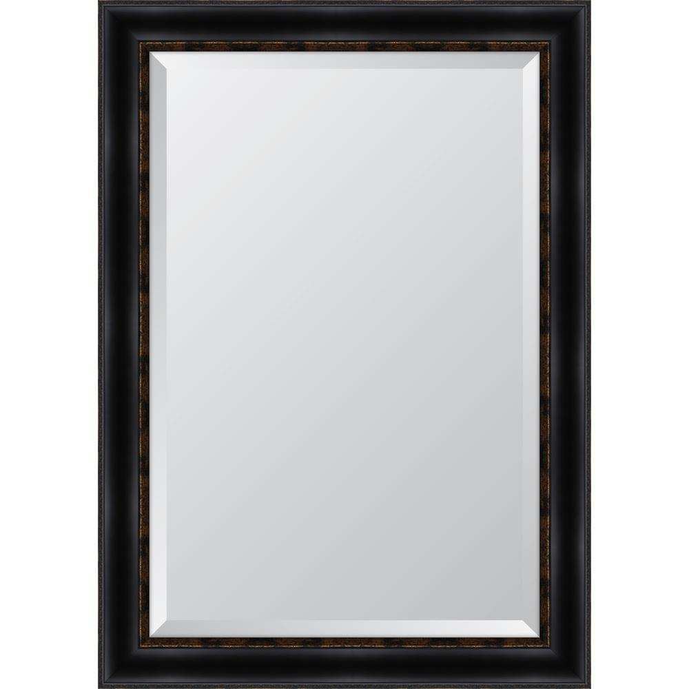 Melissa Van Hise 30 in. x 42 in. Black with Gold Emboss Resin Frame ...