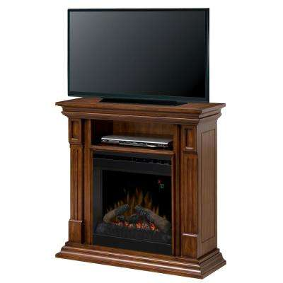 Deerhurst 36.75 in. Freestanding Electric Mantel in Burnished Walnut
