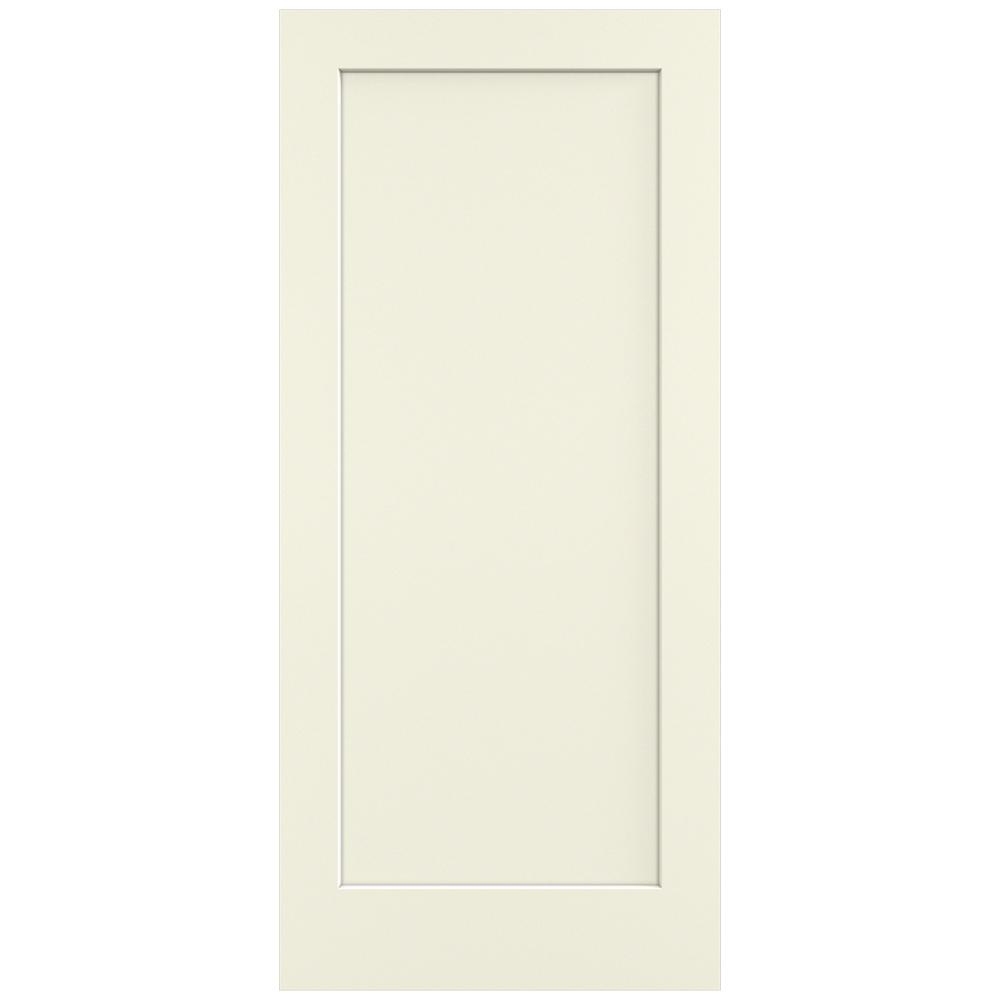 36 in. x 80 in. Madison Vanilla Painted Smooth Solid Core