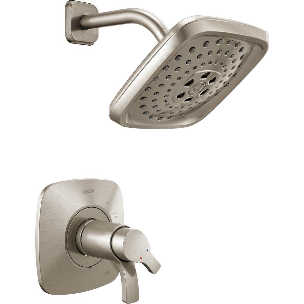 Delta Tesla 1 Handle 3 Spray Shower Faucet Trim Kit In
