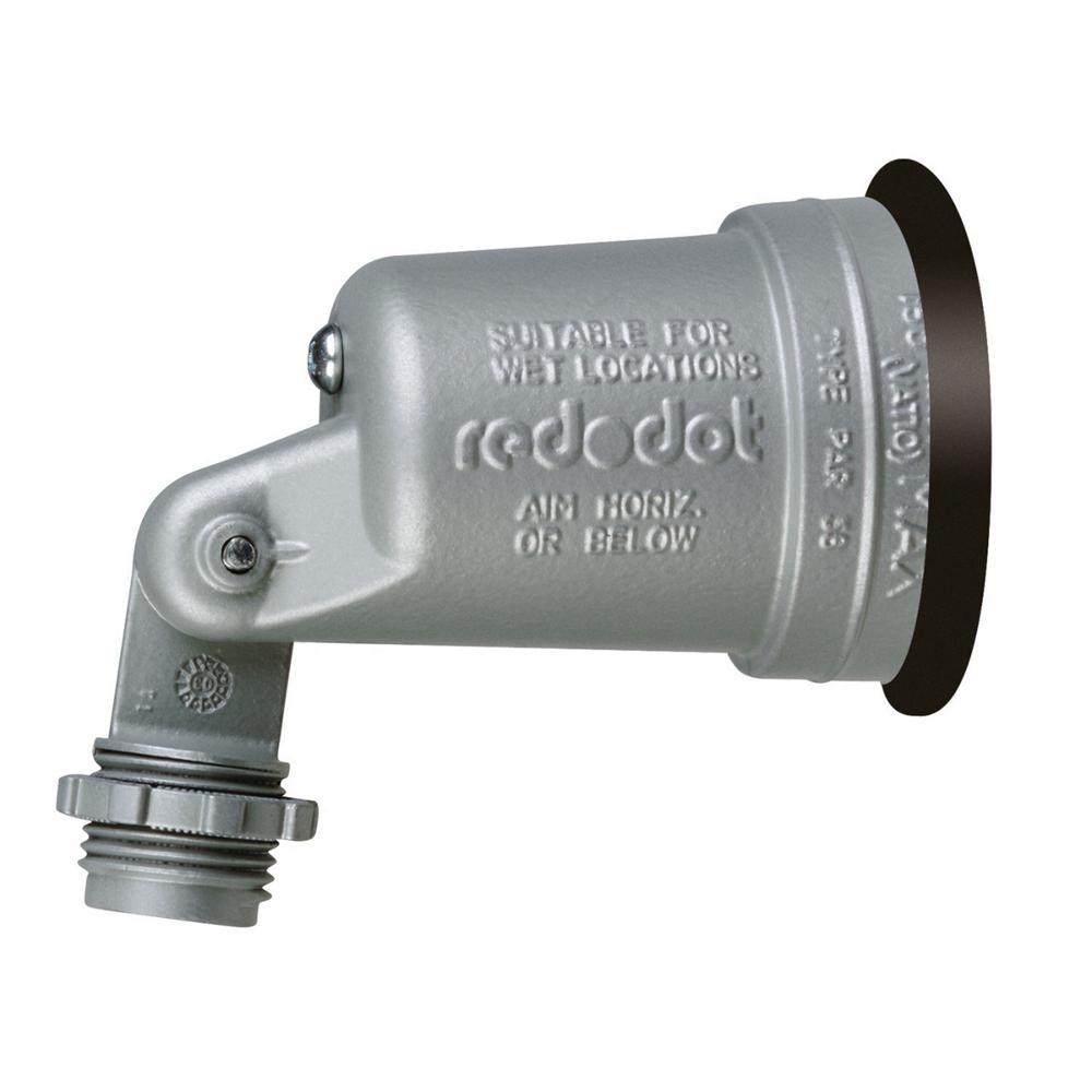 1-Light Weatherproof Lampholder with Gasket - Silver (20-Pack per Case)