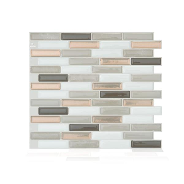 Smart Tiles Milenza Andrea Brown 10.20 in. W x 9 in.