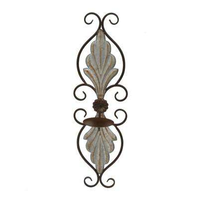 7.5 in. x 6.25 in. Brown Metal Sconces