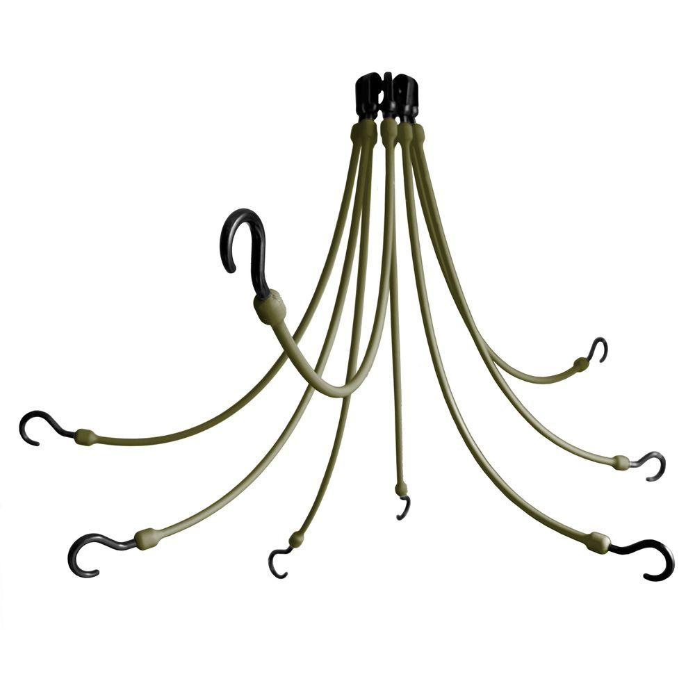 24 in. Polyurethane Flex Web with Eight Arms in Military Green