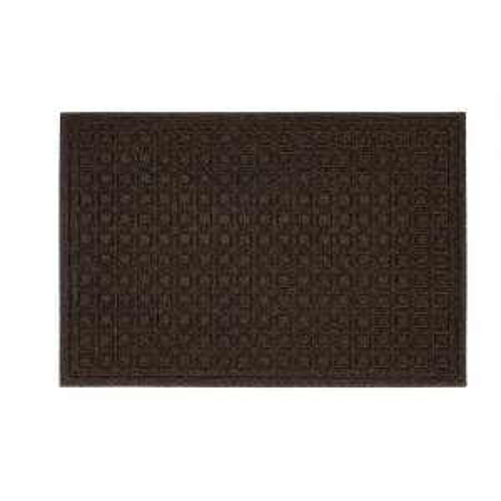 Mohawk Home Textures Blocks Walnut 24 inch x 36 inch Impressions Door Mat