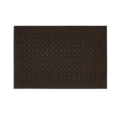Textures Blocks Walnut 24 in. x 36 in. Impressions Door Mat