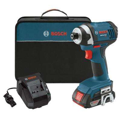 18 Volt Lithium-Ion Cordless 1/4 in. Hex Compact Tough Variable Speed Impact Driver Kit with 2.0 Ah Battery