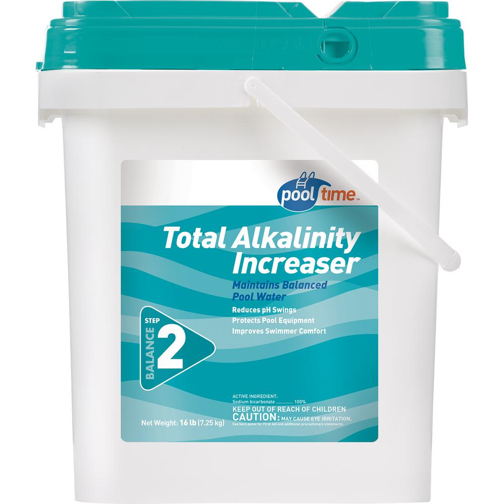 Pool Time 16 Lb Total Alkalinity Increaser 23546ptm The Home Depot