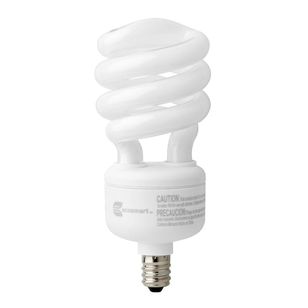 EcoSmart 60W Equivalent Bright White  Spiral CFL Light Bulb (4-Pack)