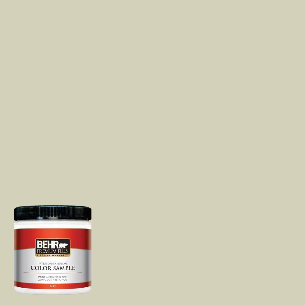 BEHR Premium Plus 8 oz. #ECC-38-1 Pale Sagebrush Interior/Exterior Paint Sample