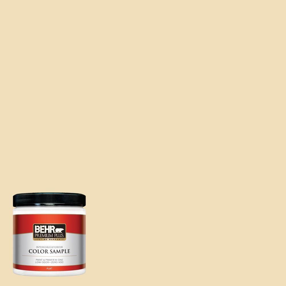 8 oz. #M320-3 Brushstroke Flat Interior/Exterior Paint and Primer in One
