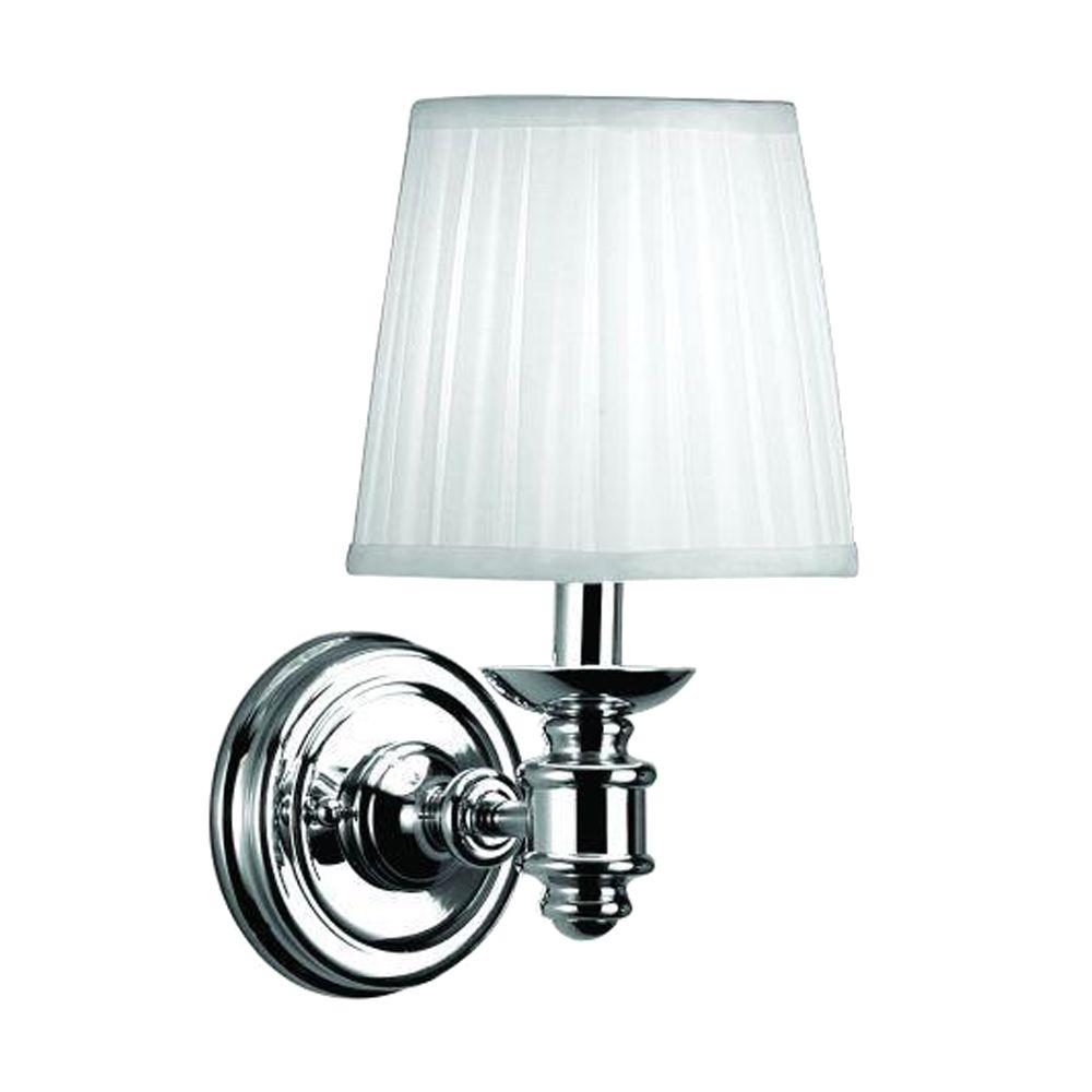 Chrome Garden Wall Lights : Hampton Bay Nadia 1-Light Chrome Wall Sconce-15559-026 - The Home Depot