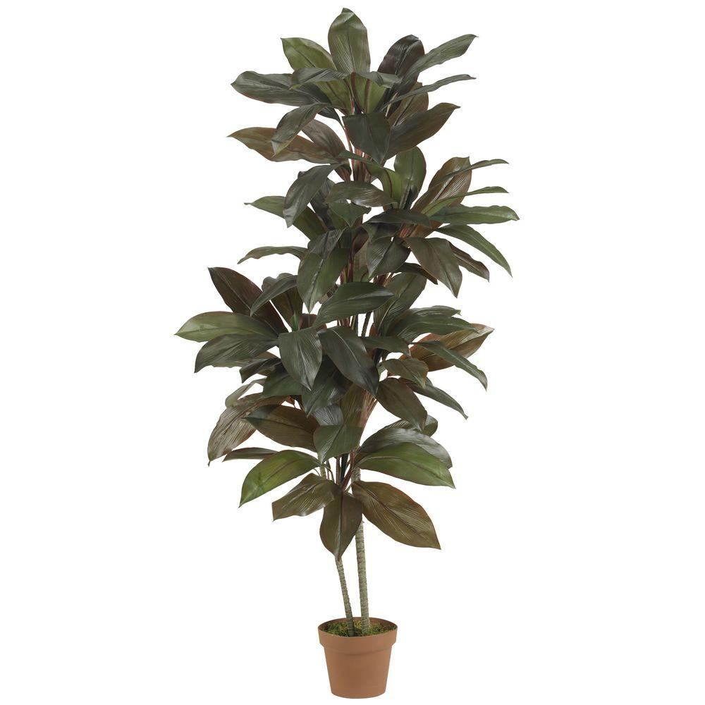 Nearly Natural Real Touch 5 ft. Green Cordyline Silk Plant ...