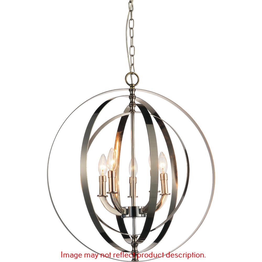 Delroy 5-Light Antique Brass Chandelier