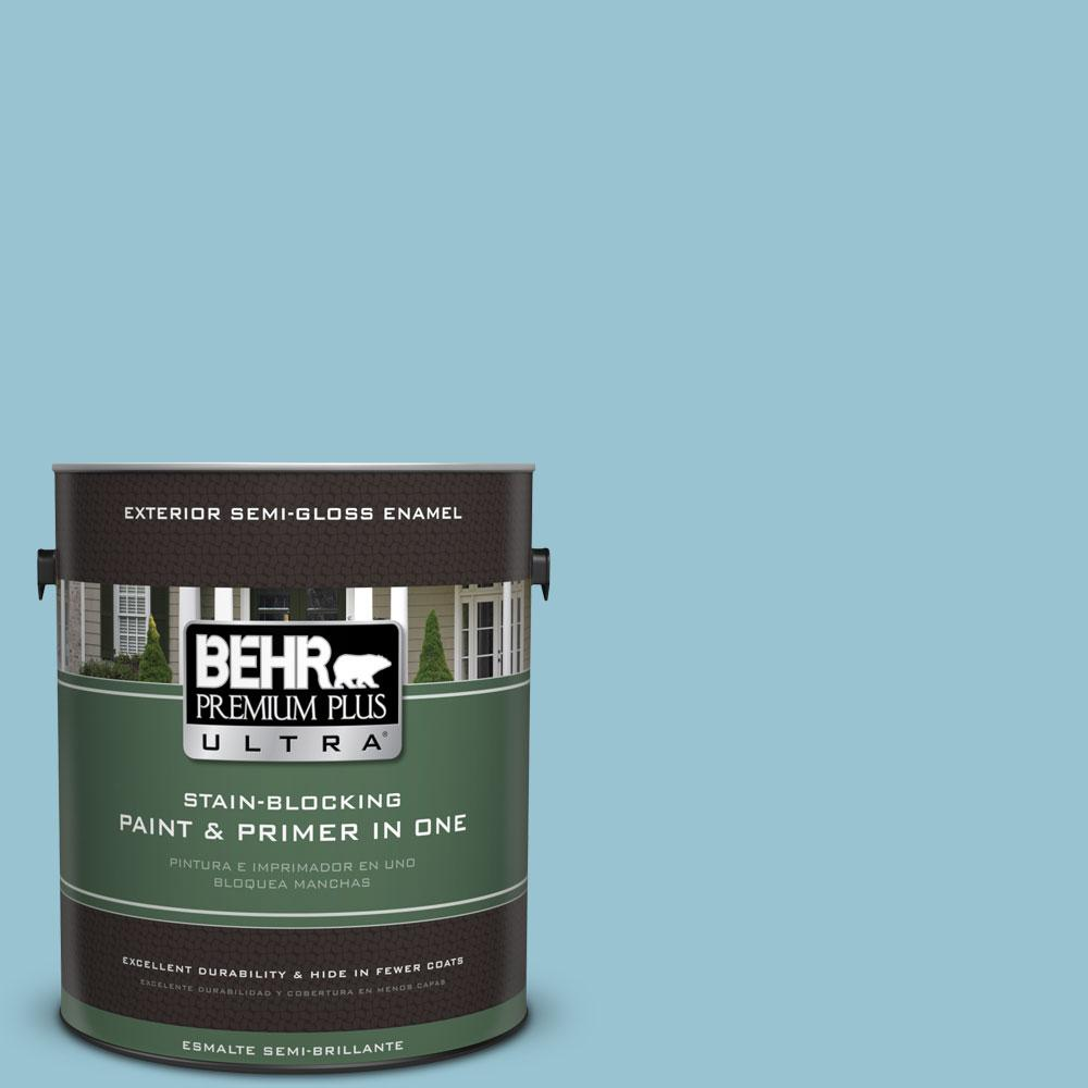 1-gal. #520E-3 Velvet Morning Semi-Gloss Enamel Exterior Paint