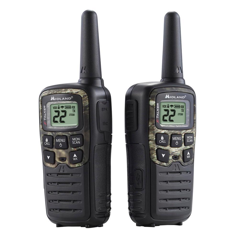 Midland Mossy Oak X-Talker 28-Mile 2-Way Radios USB Charger in Black by Midland