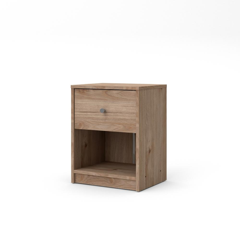 Portland 1-Drawer Jackson Hickory Nightstand 19.06 in. H x 14.92 in. W x 11.85 in. D