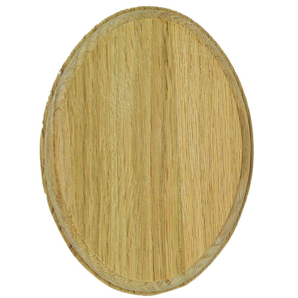 Stair Parts 7337 Unfinished Oak Oval Rosette
