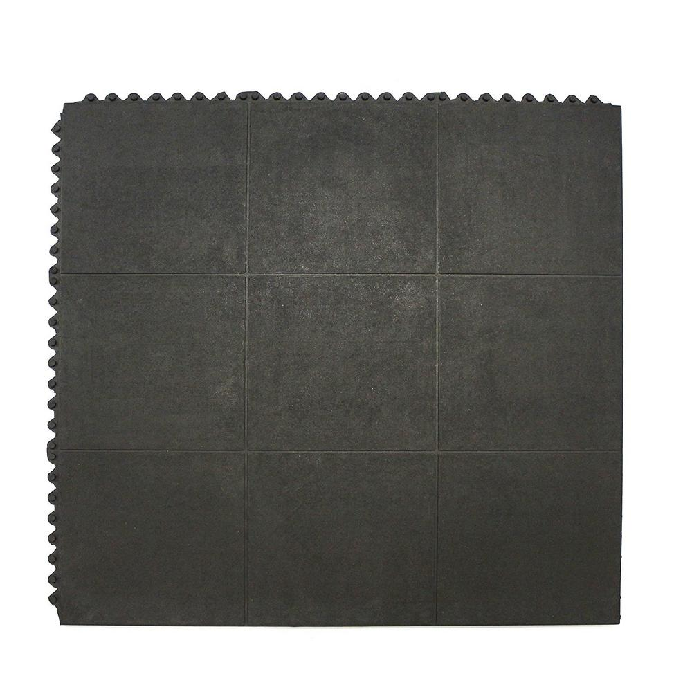 Commercial Home Indoor Outdoor Interlocking Exercise Gym Rubber Floor Mat