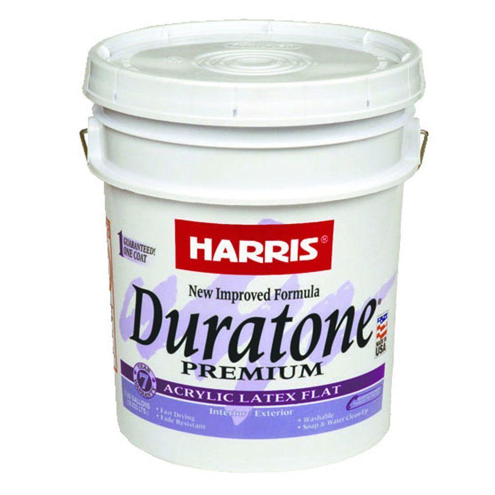 Duratone 5 gal. Flat Acrylic-Latex White Interior/Exterior Paint