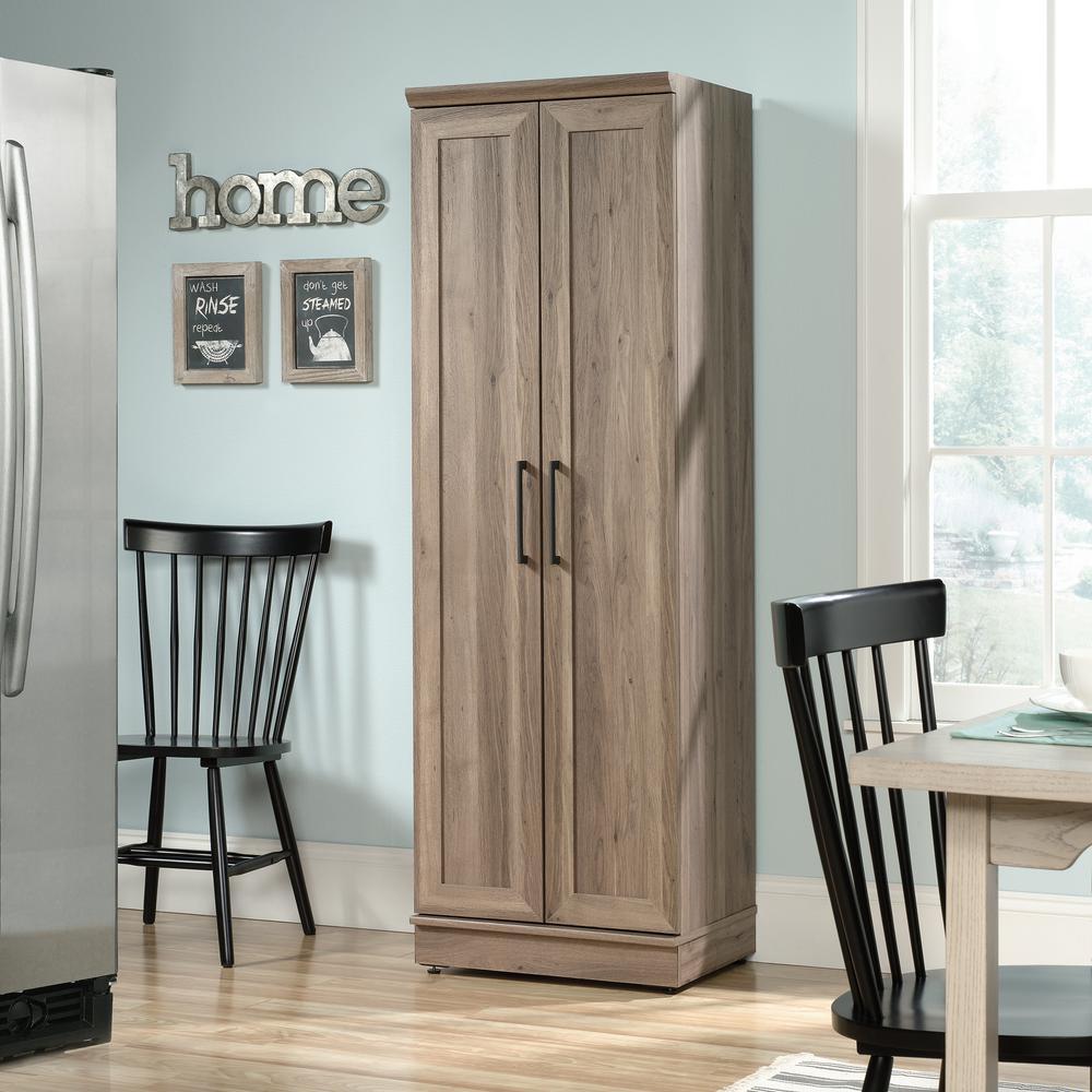 Sauder Homeplus 23 In Salt Oak Wide Storage Cabinet 422426 The