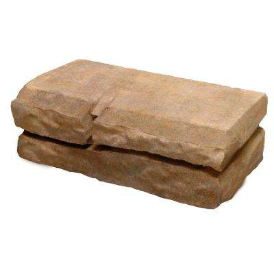 Natural Impressions 4 in. x 12 in. x 5.75 in. Sandstone Concrete Quarry Wall Block