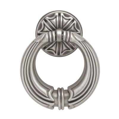 French Huit 2 in. (50mm) Brushed Satin Pewter Ring Drawer Pull