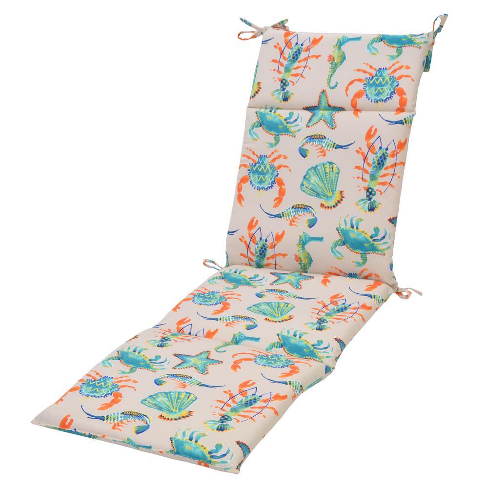 Plantation Patterns Llc Oatmeal Sea Outdoor Chaise Lounge