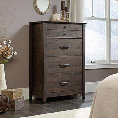 Carson Forge 4-Drawer Coffee Oak Chest