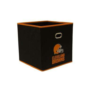 Cleveland Browns NFL Store Its 10-1/2 in. x 10-1/2 in. x 11 in. Black Fabric Drawer