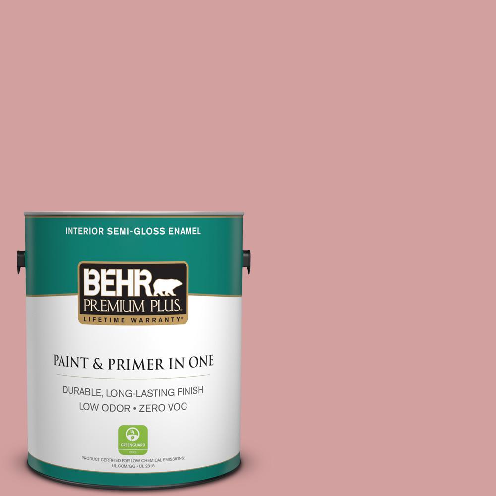 1-gal. #S150-3 Rose Pottery Semi-Gloss Enamel Interior Paint