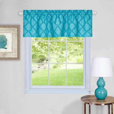 Colby 14 in. L Polyester Valance in Turquoise