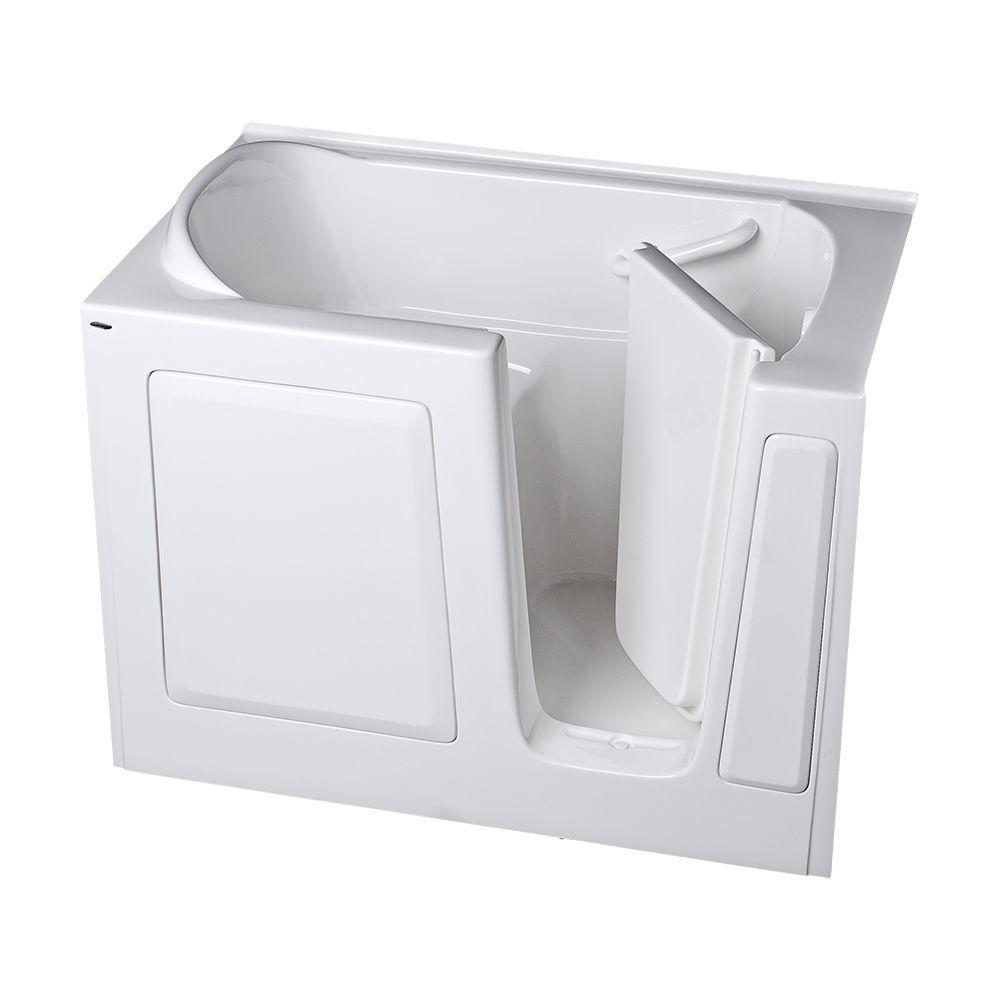 American Standard Gelcoat Standard Series 51 in. x 31 in. Walk-In Soaking Tub in White