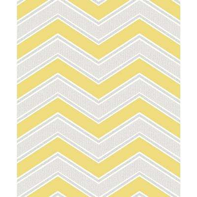 8 in. x 10 in. Serena Yellow Chevron Sample