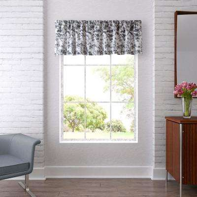 Amberley 15 in. L Cotton Pole Top Valance in Black