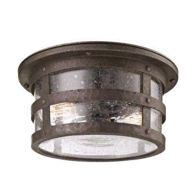 Barbosa 2-Light Barbosa Bronze Outdoor Flushmount