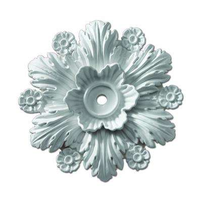 14-3/8 in. x 14-3/8 in. x 2-1/4 in. Polyurethane Beaumont Smooth Ceiling Medallion (1-Piece)