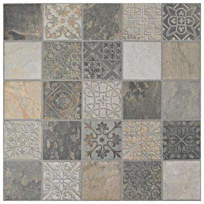 Deco Calzada Ardesia 17-1/2 in. x 17-1/2 in. Porcelain Floor and Wall Tile (11 sq. ft. / case)