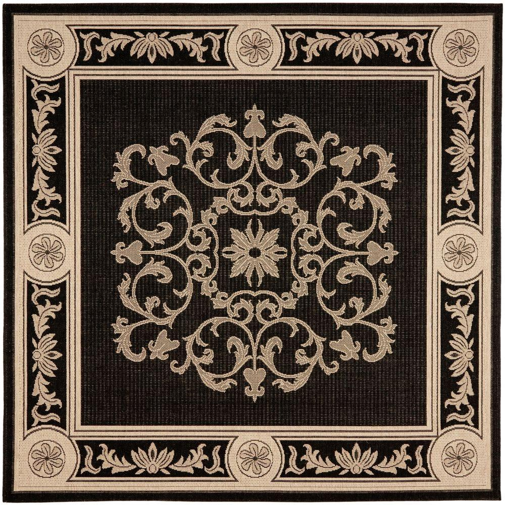 Outdoor Rug 7 X 10: Safavieh Courtyard Black/Sand 7 Ft. 10 In. X 7 Ft. 10 In