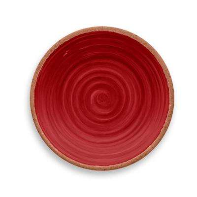 Rustic Swirl Red Salad Plate (Set of 6)