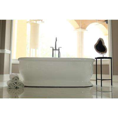 Bliss 5.7 ft. Acrylic Flatbottom Non-Whirlpool Bathtub in White