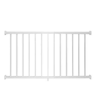 Stanford 42 in. H x 72 in. W Textured White Aluminum Railing Kit