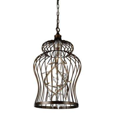 Molus 6-Light Antique Gold Pendant