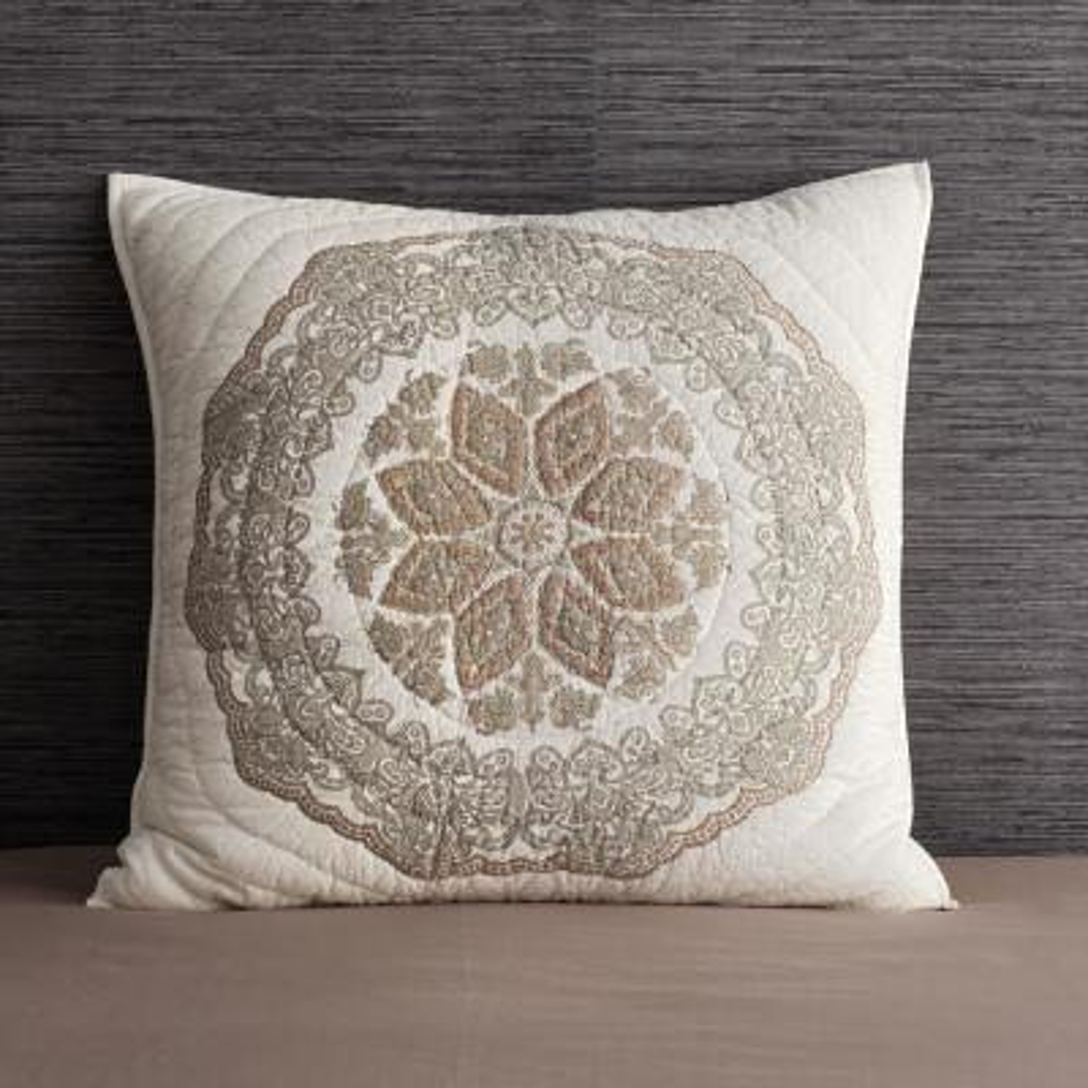 Beaufort Multicolored Geometric Cotton Textured Euro Sham