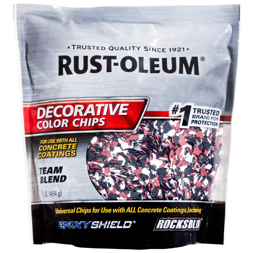 Rust Oleum 1 Lb Black White Red Decorative Color Chips