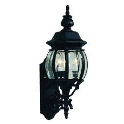 Sergej 3-Light Rust Outdoor Wall Lantern